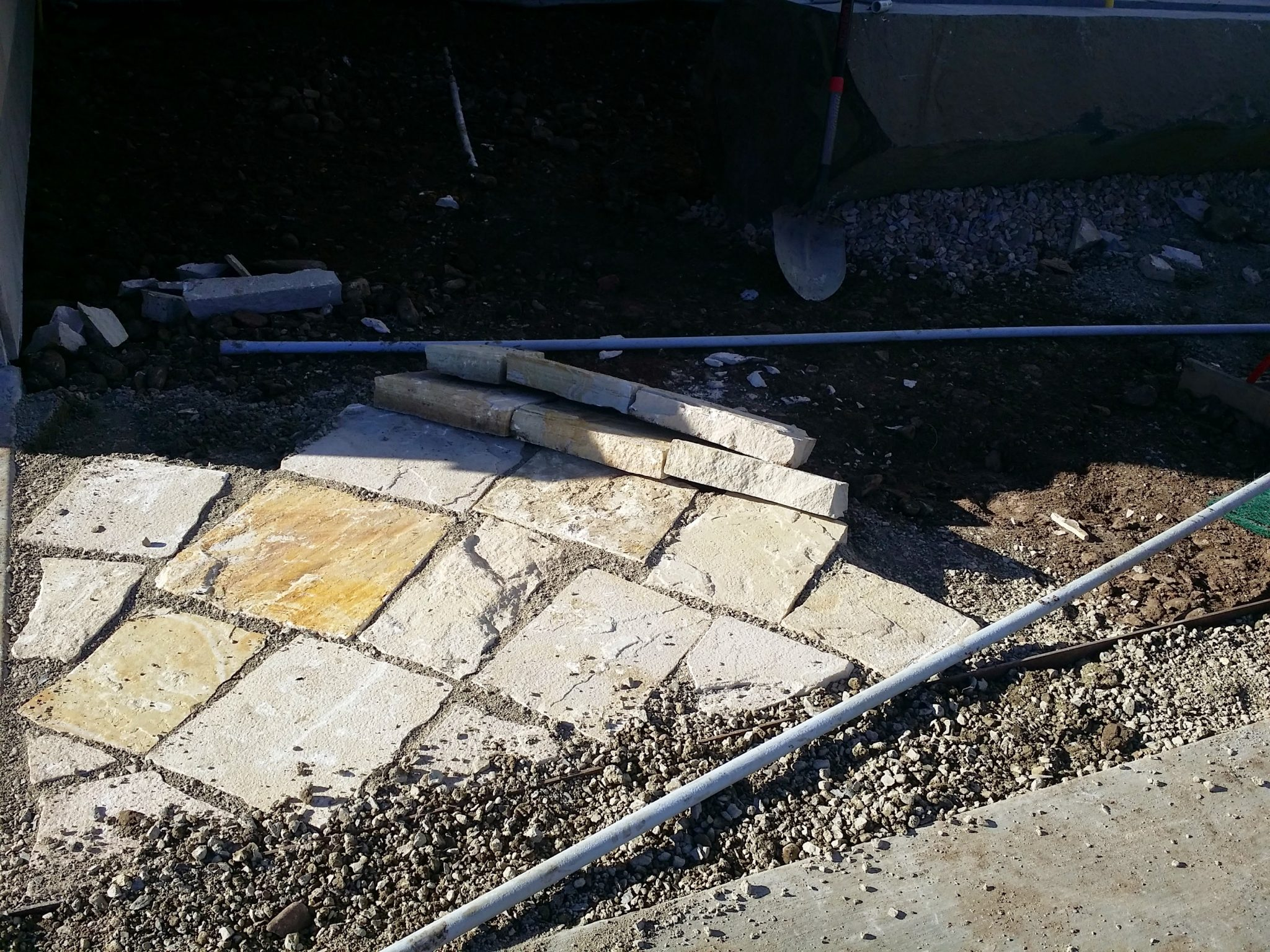 Contractors first attempt at laid stone mulch